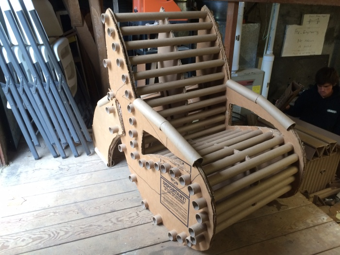 Man Creates The Perfect Chair Out Of Cardboard