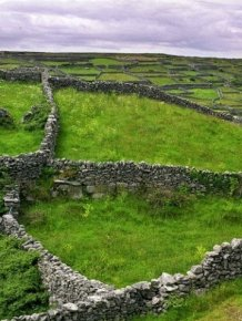 Stone walls in Ireland