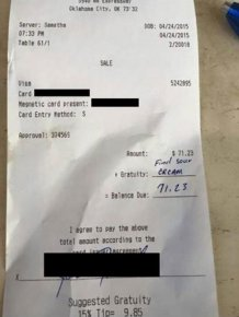 Man Doesn't Leave A Tip Then Gets Owned Online