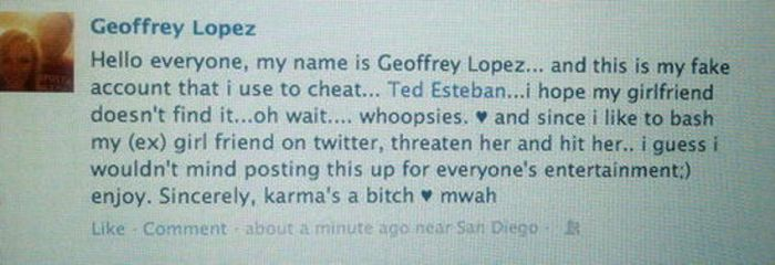 When Cheaters Get Exposed On Facebook