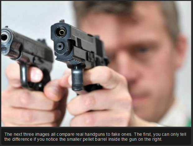Can You Tell The Difference Between A Real And A Fake Gun?