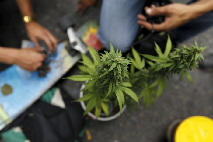 Marijuana Activists Gather For A Demonstration In Columbia