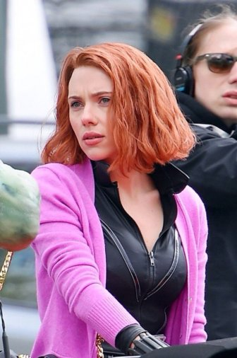 Behind The Scenes Pictures Of Scarlett Johansson As Black Widow