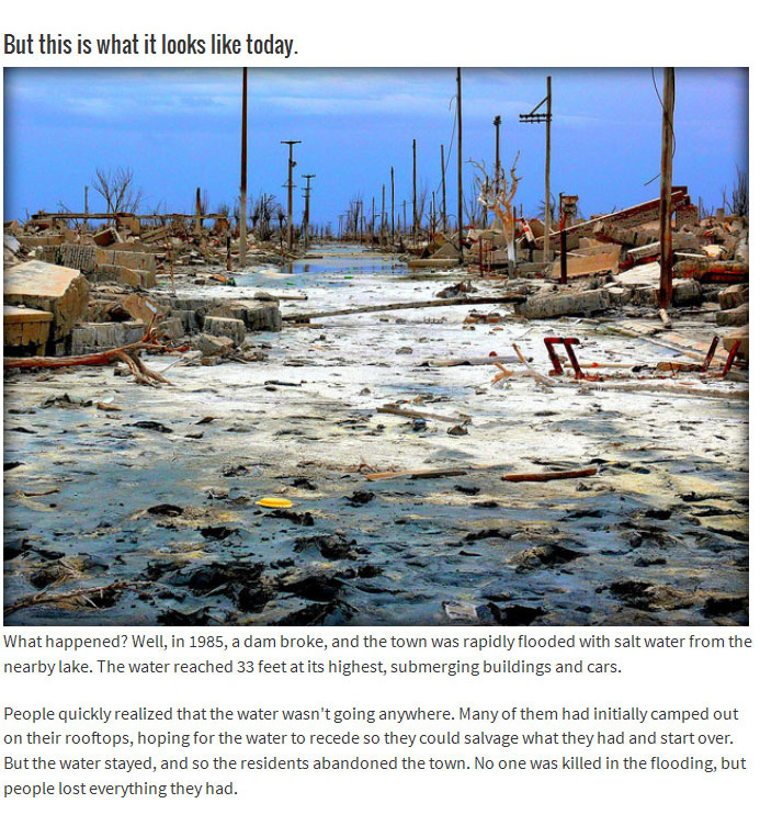 This Town Was Once Beautiful Until It Was Flooded