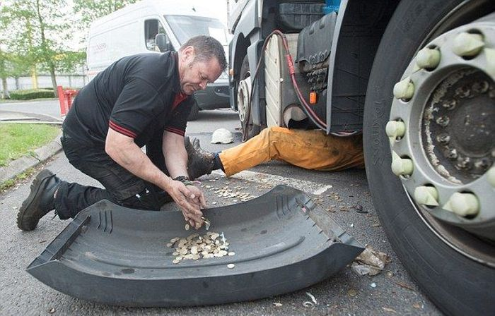 Millions Of Coins Spill On To The Streets Of England