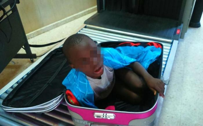 Woman Tries To Smuggle Her 8 Year Old Son Into Spain Using A Suitcase