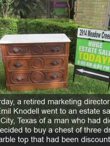 Texas Man Finds Hidden Treasure At An Estate Sale