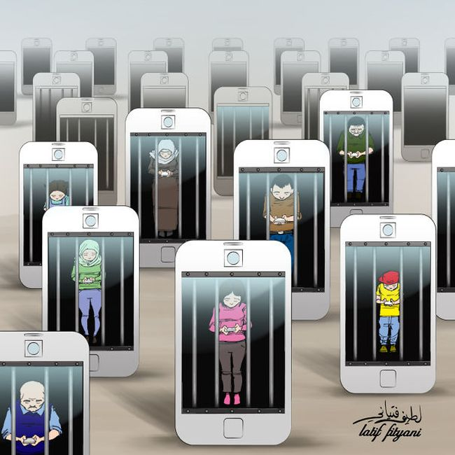 Clever Cartoons Show How Addicted People Are To Smartphones Others