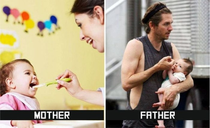 10 Big Differences Between How Mothers And Fathers Take Care Of Kids