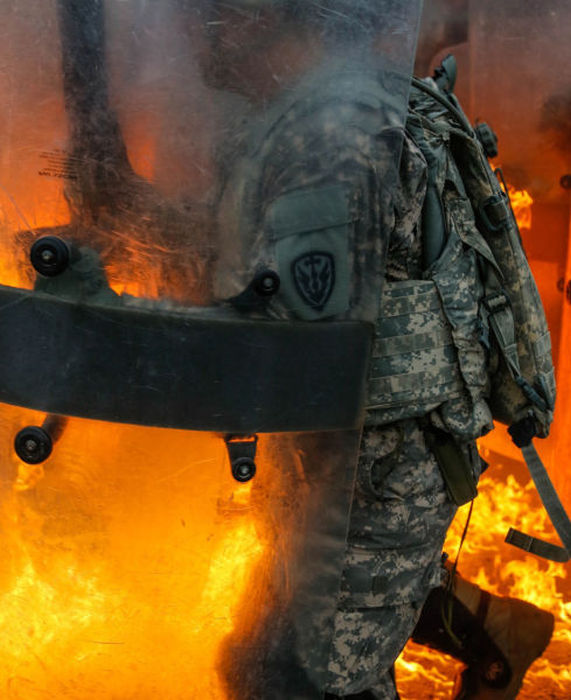 Military Units Face A Real Fire Fight While Training
