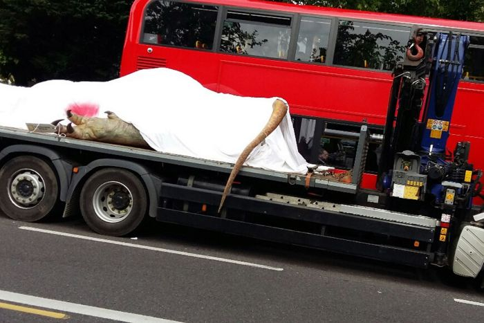 Why Is There A T-Rex On The Back Of A Truck In London?
