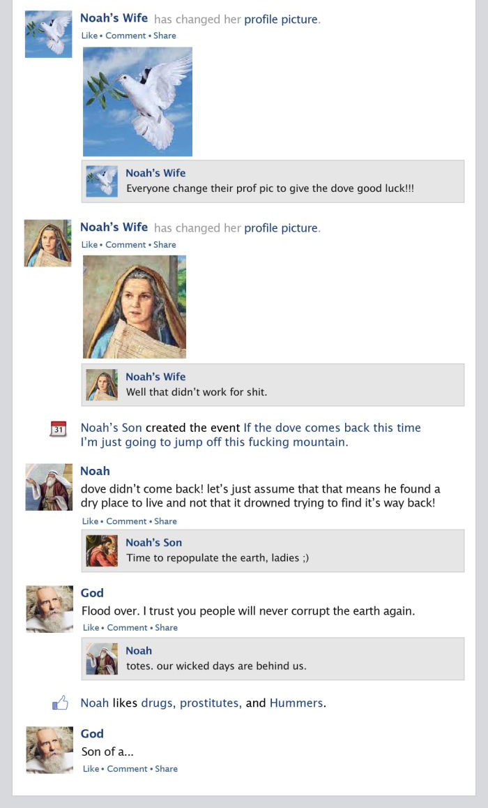 If Noah's Ark Happened On The Facebook Newsfeed