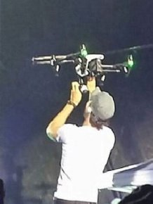 Enrique Iglesias Got His Fingers Sliced Open By A Drone During A Concert