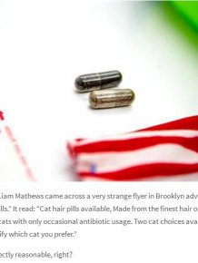 Mysterious Dealers Are Now Selling Cat Hair Pills