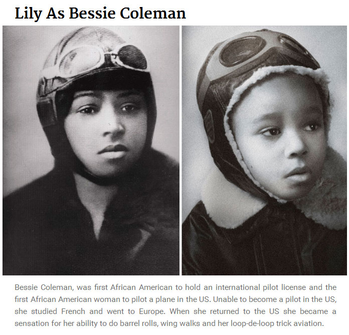 5 Year Old Girl Recreates Photos Of Famous Women From History