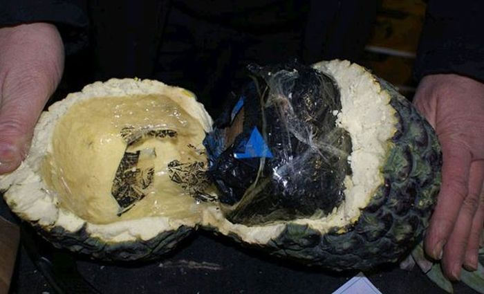 Spanish Police Recently Seized A Massive Stash Of Cocaine Stuffed Pineapples