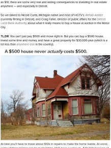In Detroit You Can Buy A House For $500