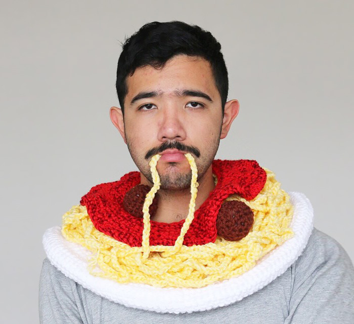 Phil Ferguson Crochets Delicious Looking Food Hats