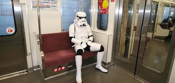 Costumed Characters Hanging Out In Public Doing Everyday Things
