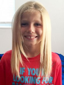 8 Year Old Boy Grows His Hair Long To Donate It For Cancer Patients