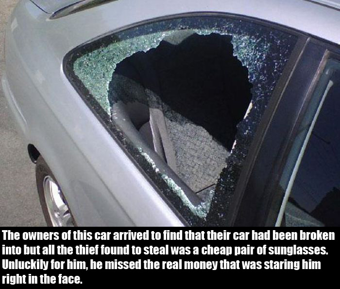 Thief Breaks Into A Car And Completely Misses The Jackpot