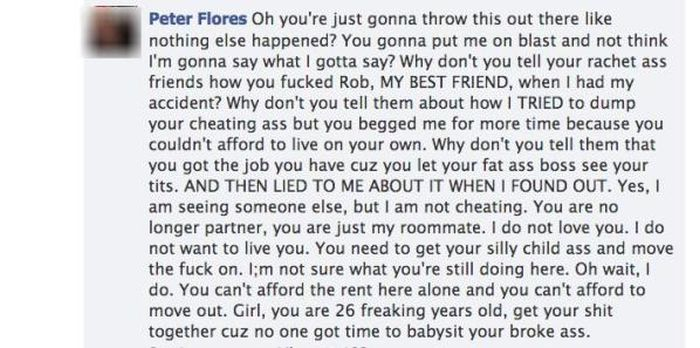 Girl Tries To Call Out Cheating Boyfriend On Facebook Then He Drops A Bomb