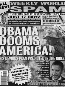 Man Uses Headlines From His Spam Folder To Make His Own Tabloid Covers