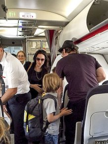 Angelina Jolie And Brad Pitt Pass On First Class As They Fly To Paris