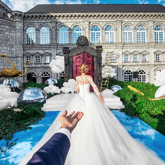 The #FollowMeTo Couple Take A Walk Down The Aisle At Their Own Wedding