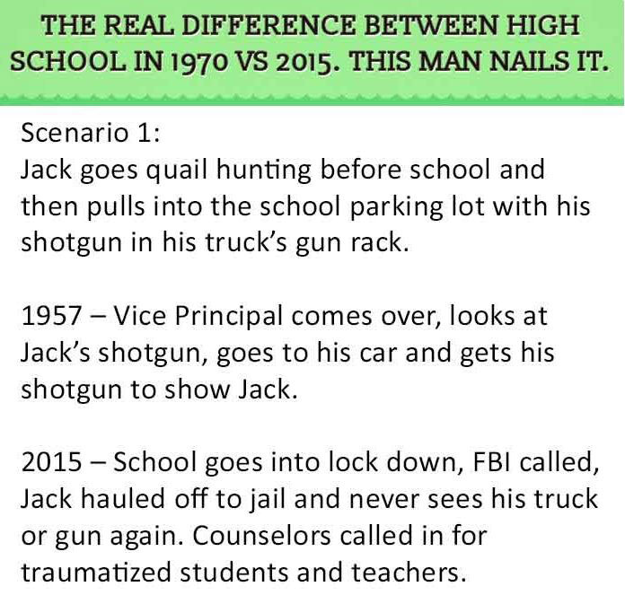 Man Points Out The Differences Between School In 1970 Vs 2015 And Nails It