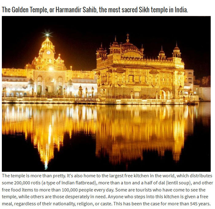 The Golden Temple Has Been Feeding Thousands Of People For Centuries