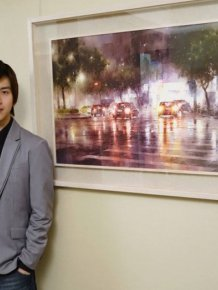 Artist Lin Ching Che Uses Watercolors To Paint Urban Landscapes