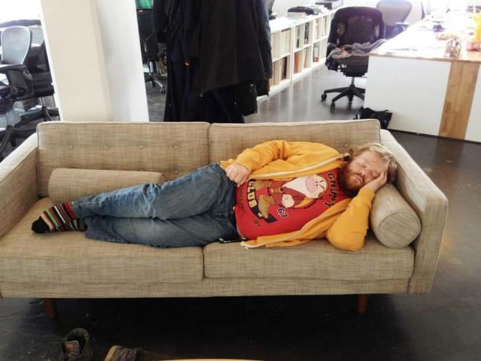 This Guy Fell Asleep At Work So His Colleagues Turned Him Into A Meme