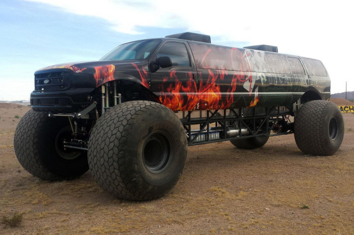 Camaro Monster Truck >> What It Looks Like When A Monster Truck Becomes A Limousine | Vehicles