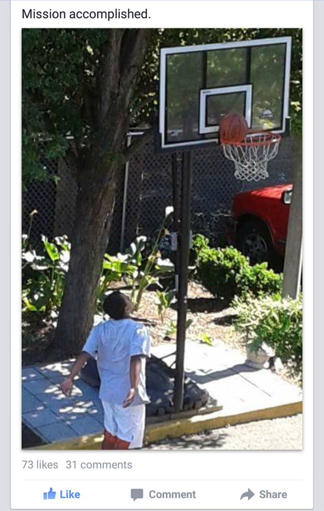 Man Uses A Basketball Hoop To Pull Off The Ultimate Act Of Kindness