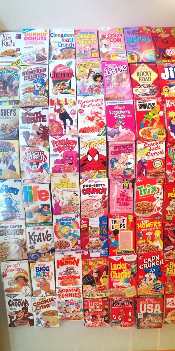These People Used Cereal Boxes To Make The Coolest Wall Ever