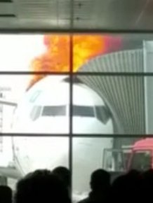 Boeing 737 Bursts Into Flames At The Airport