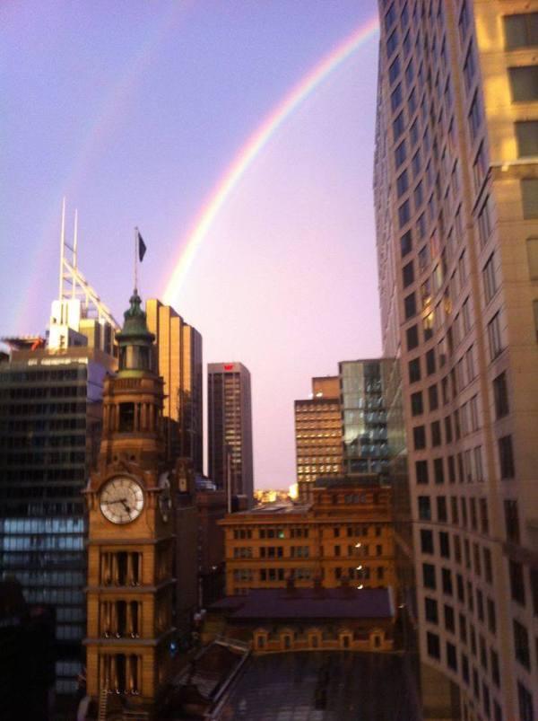 Sydney Residents Enjoy Rare Double Rainbow Shining Above The City
