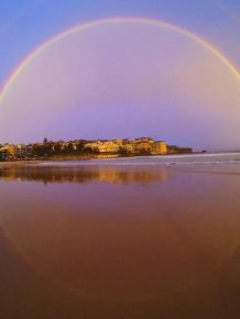 Sydney Residents Enjoy Rare Double Rainbow Shining Above The City