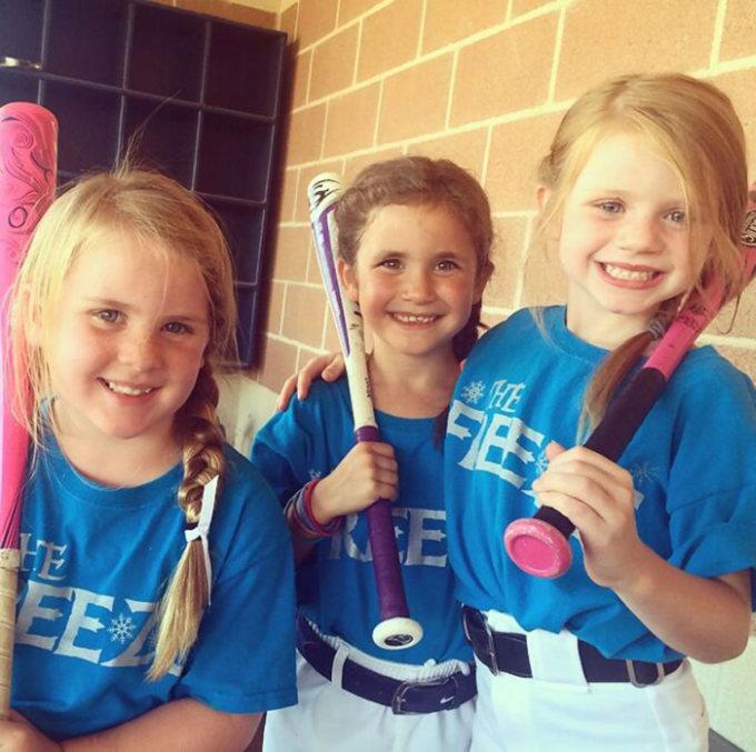All Girl Softball Team Gets Fierce For A Frozen Photoshoot