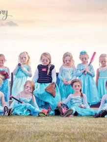 All Girl Softball Team Gets Fierce For A Frozen Photoshoot