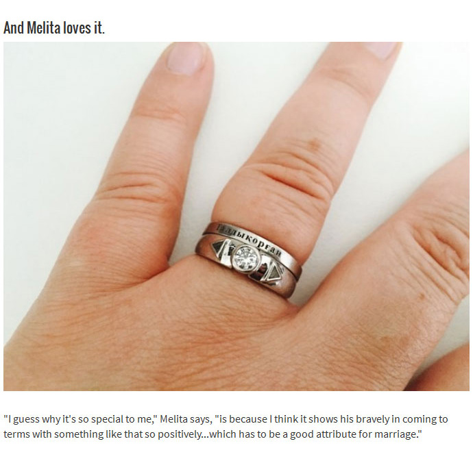 This Man Literally Put A Piece Of Himself Inside An Engagement Ring