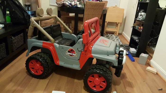 Barbie Jeep Gets Converted Into A Jeep From Jurassic Park