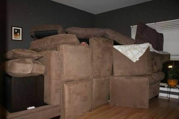 Man Moves Into Fort Kick-Ass After Girlfriend Calls Him Childish