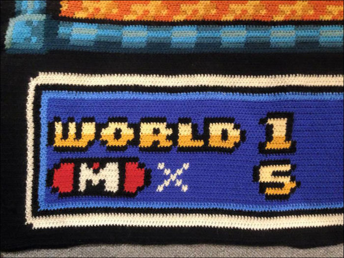Norwegian Man Spends 6 Years Crocheting A Map From Super Mario Bros. 3, part 3