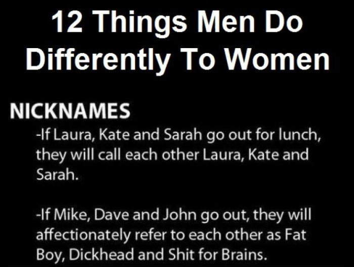 12 Differences That Separate Men From Women