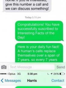 Genius Troll Gives Text Spammer A Taste Of His Own Medicine