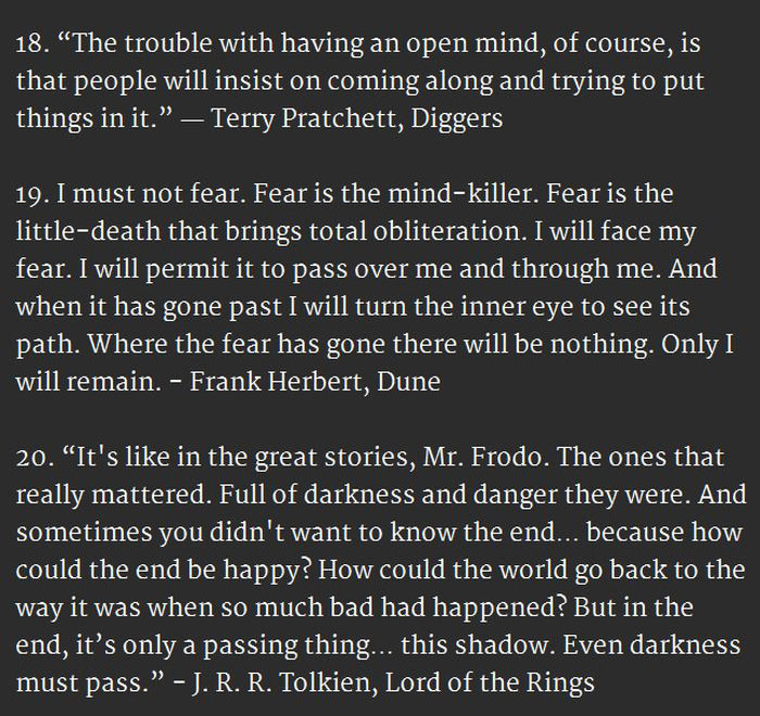 20 Surprisingly Inspirational Quotes From Sci-Fi And Fantasy