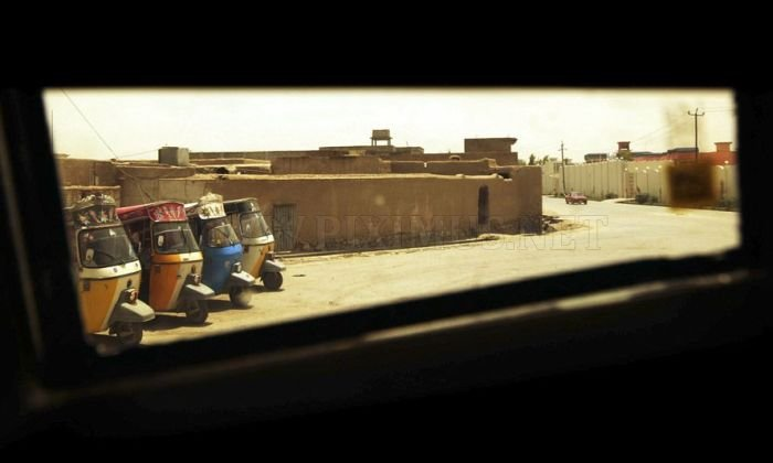 Afghanistan through a Humvee Window