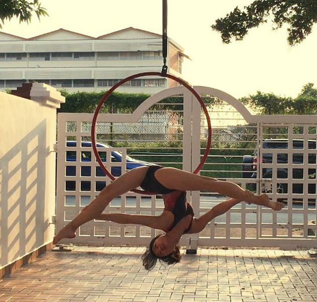 Caitlin Mayhap Is An Aerialist With Serious Skills